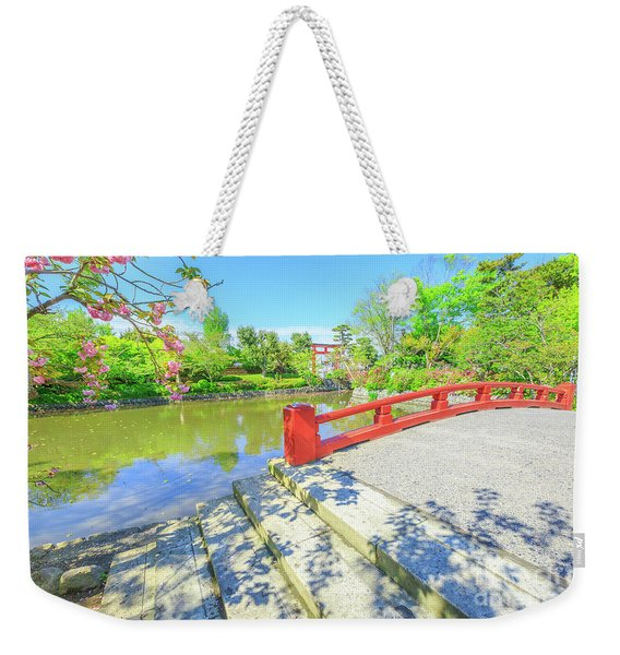 Weekender Tote Bag featuring the photograph Minamoto Lake In Kamakura by Benny Marty