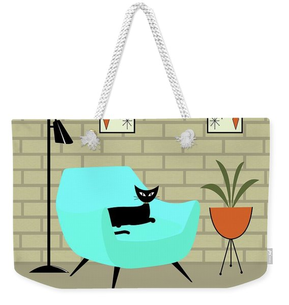 Weekender Tote Bag featuring the digital art Mini Gravel Art With Brick Wall by Donna Mibus
