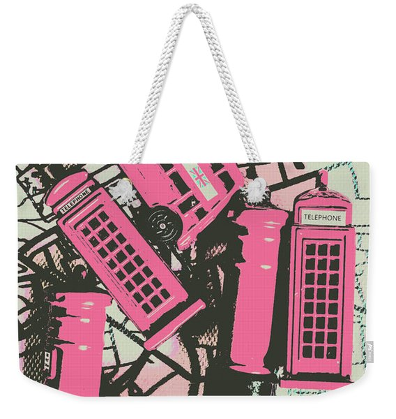 Miniature London Town Weekender Tote Bag