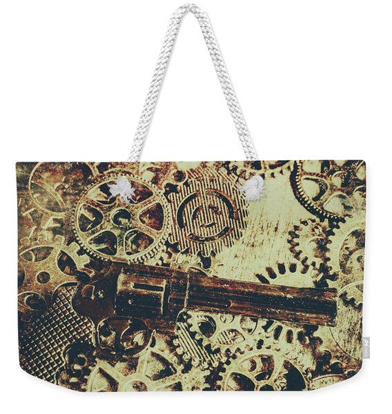 Miniature Old Western Pistol Weekender Tote Bag