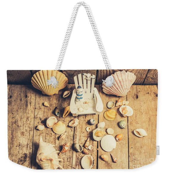Miniature Sea Escape Weekender Tote Bag