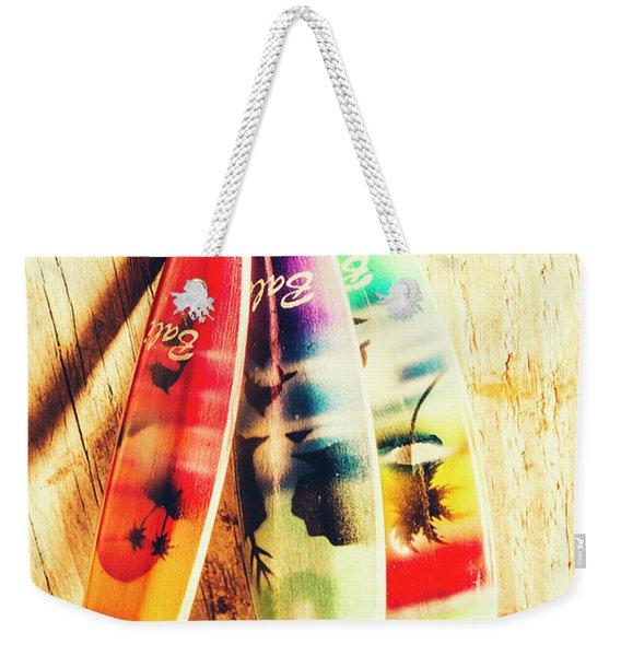 Miniature Surfboard Decorations Weekender Tote Bag