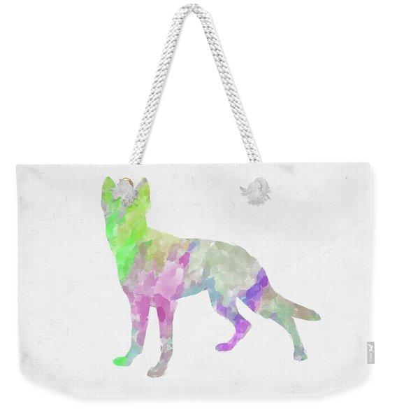 Minimal Abstract Dog Watercolor Vii Weekender Tote Bag