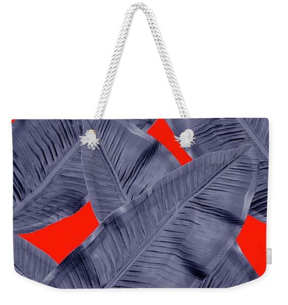 Minimal Leaf  Weekender Tote Bag