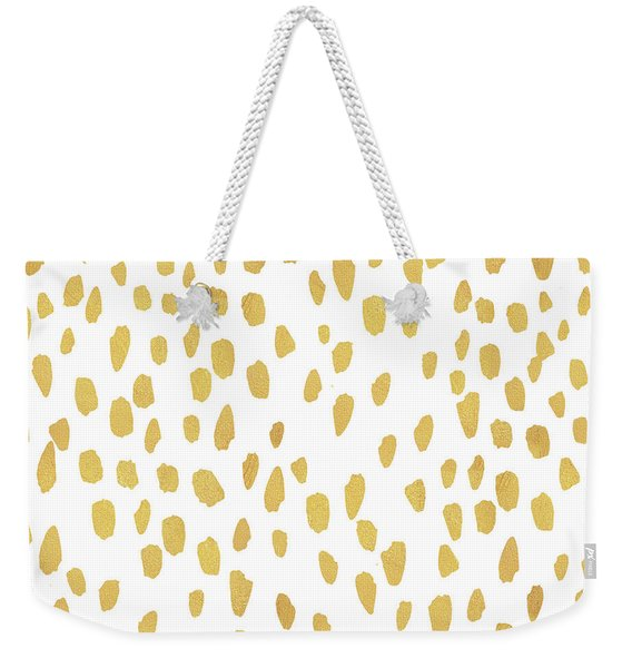Minimalist Is Gold Weekender Tote Bag