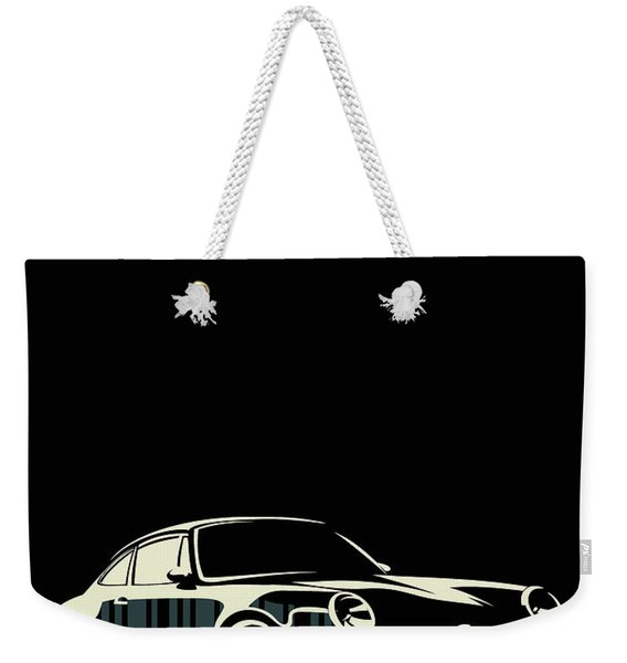 Minimalist Porsche Weekender Tote Bag