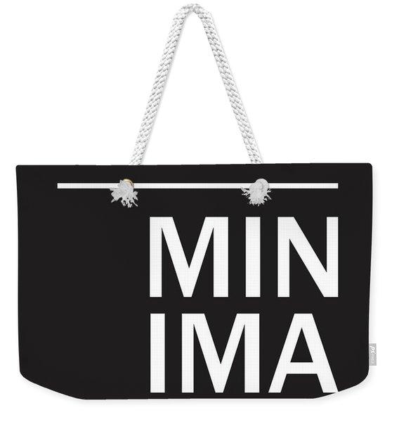 Minimalist Poster Weekender Tote Bag