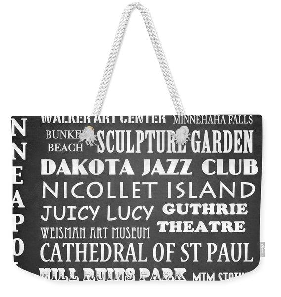 Minneapolis Famous Landmarks Weekender Tote Bag