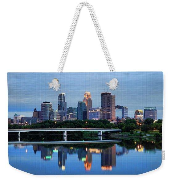 Minneapolis Reflections Weekender Tote Bag