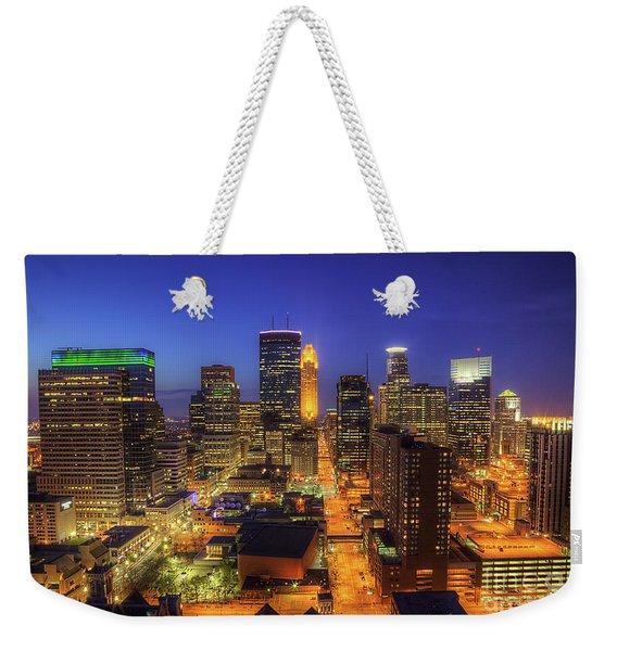 Minneapolis Skyline Art Marquette Avenue Weekender Tote Bag