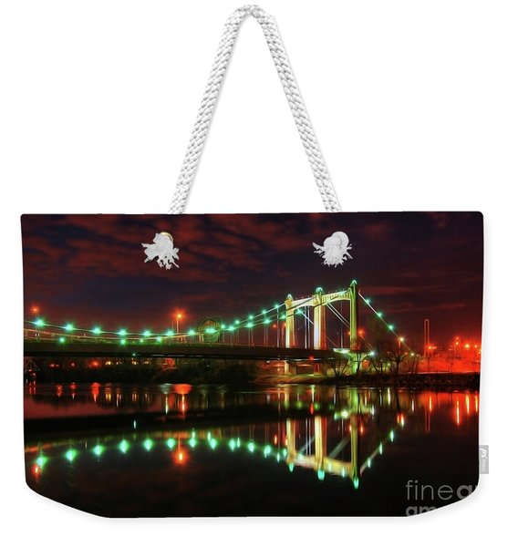 Minneapolis Skyline Hennepin Avenue Bridge Weekender Tote Bag