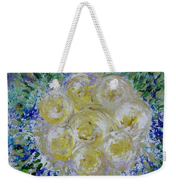 Min's White Bouquet Weekender Tote Bag
