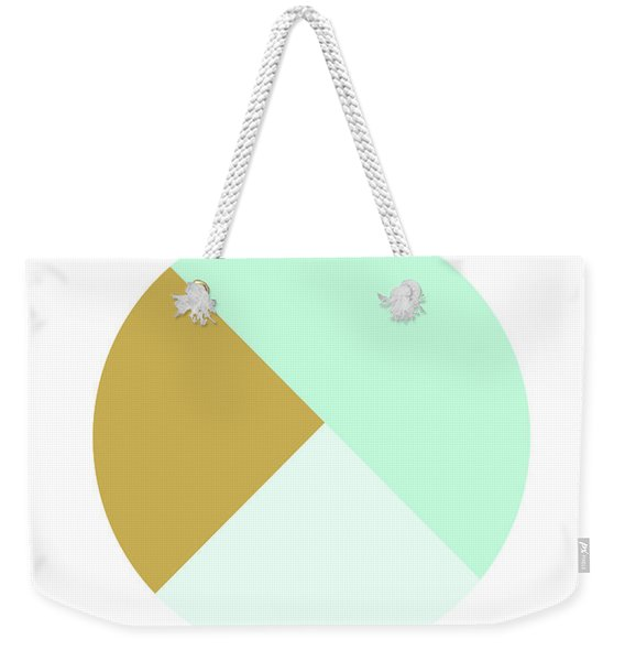 Mint And Gold Ball- By Linda Woods Weekender Tote Bag