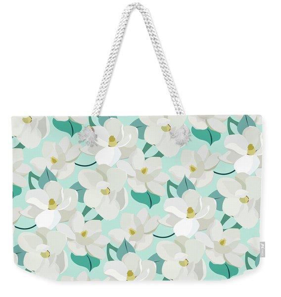 Mint Magnolias Weekender Tote Bag