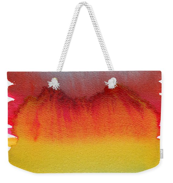 Weekender Tote Bag featuring the painting Miraggio by Bee-Bee Deigner