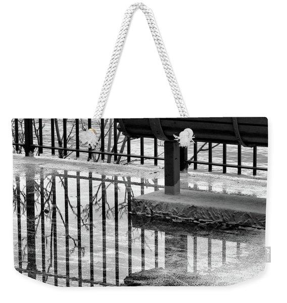 Mirror Puddle Weekender Tote Bag