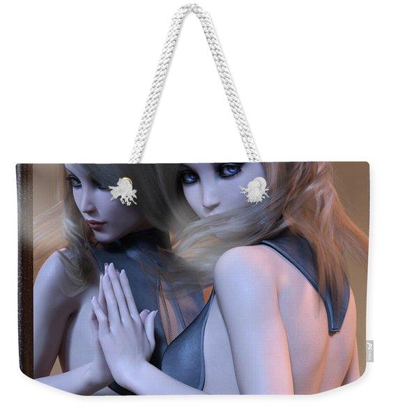 Mirrored Gaze Weekender Tote Bag