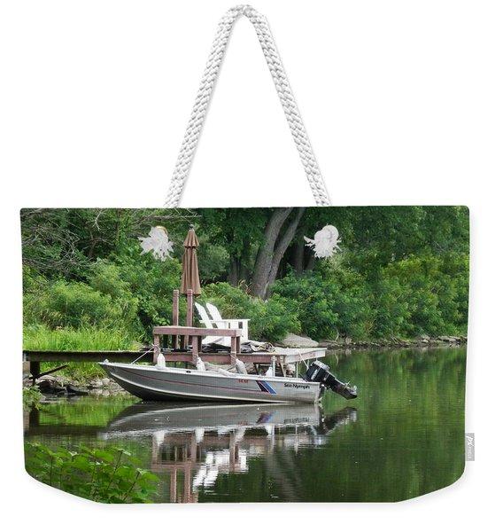 Mirrored Journey Weekender Tote Bag