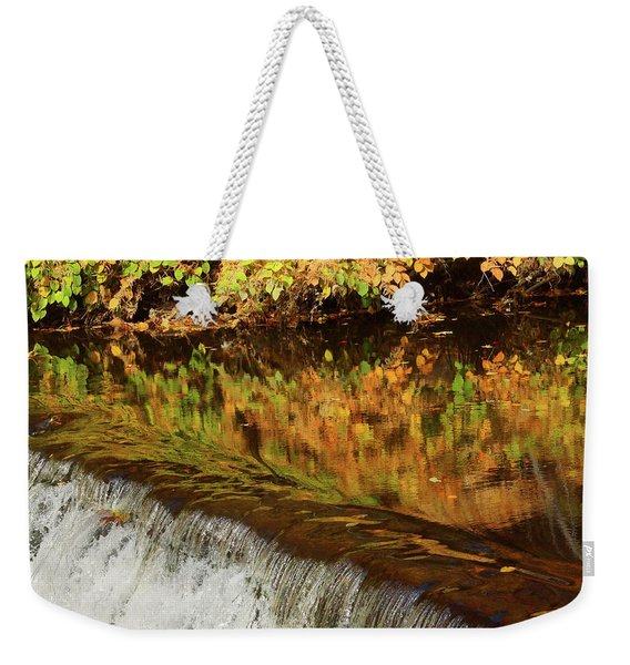 Mirroring Autumn Weekender Tote Bag