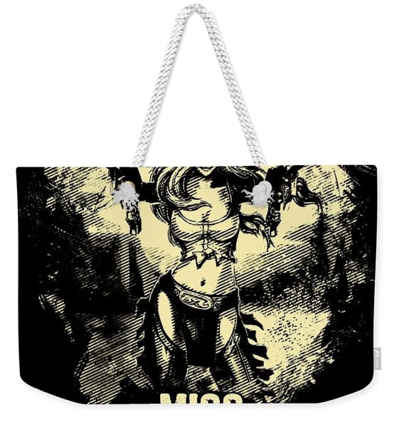 Miss Fortune - Vintage Comic Line Art Style Weekender Tote Bag