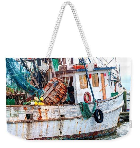 Miss Hale Shrimp Boat - Side Weekender Tote Bag