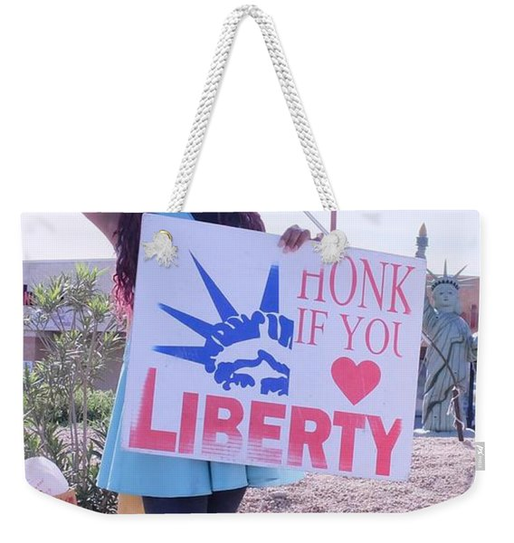 Miss Liberty Weekender Tote Bag