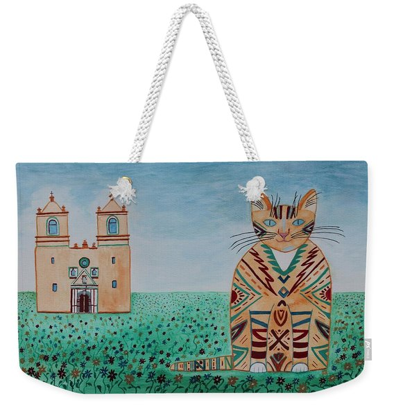 Mission Concepcion Cat Weekender Tote Bag