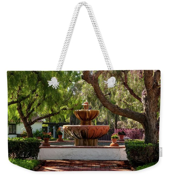 Mission Fountain Weekender Tote Bag