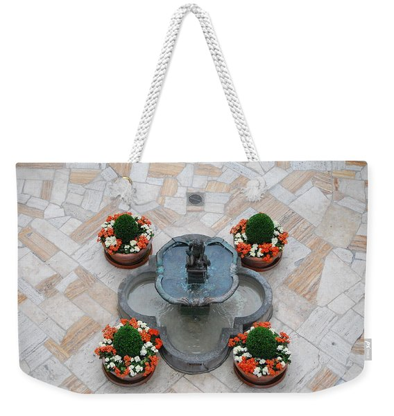 Mission Inn Fountain Overview Weekender Tote Bag
