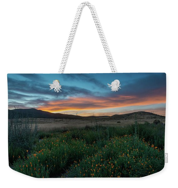 Mission Trails Poppy Sunset Weekender Tote Bag