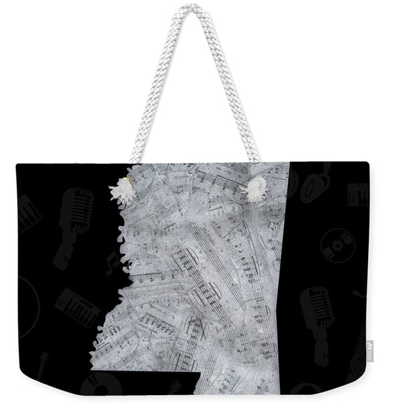 Mississippi Map Music Notes 2 Weekender Tote Bag