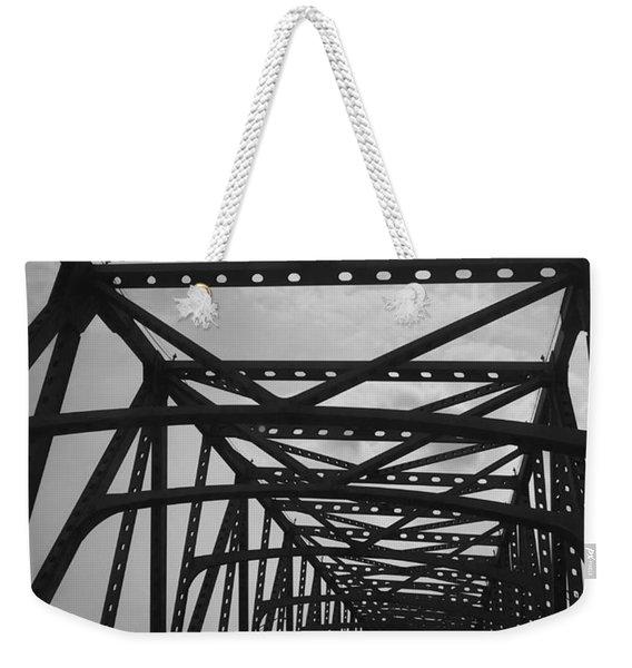 Mississippi River Bridge Weekender Tote Bag