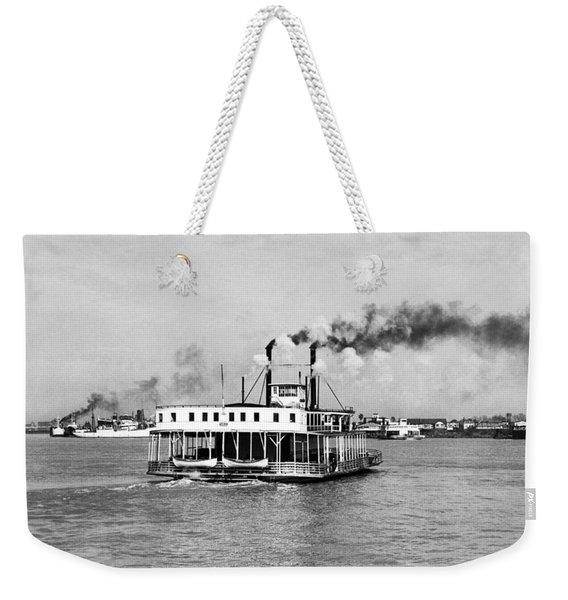 Mississippi River Ferry Boat Weekender Tote Bag