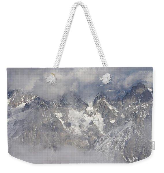Mist And Clouds At Auiguille Du Midi Weekender Tote Bag
