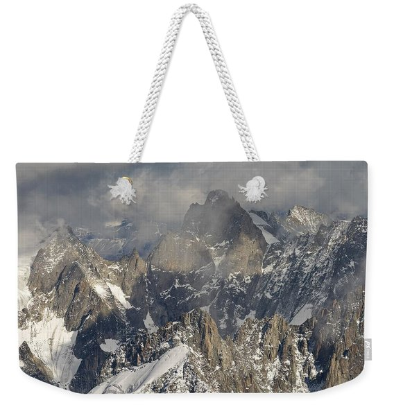Mist And Light At Aiguille Du Midi Weekender Tote Bag