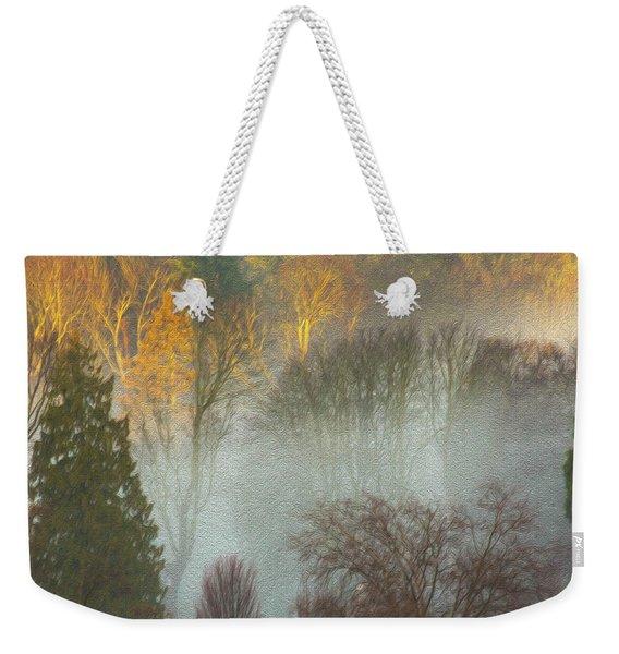 Mist In The Park Weekender Tote Bag