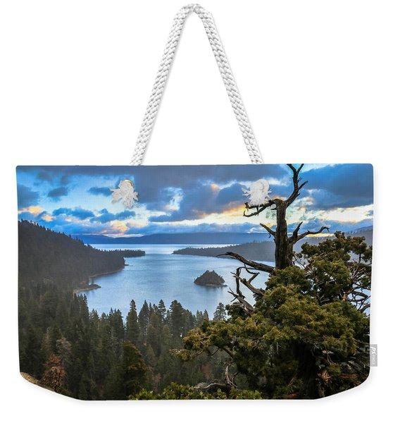 Mistic Tahoe Sunrise Weekender Tote Bag