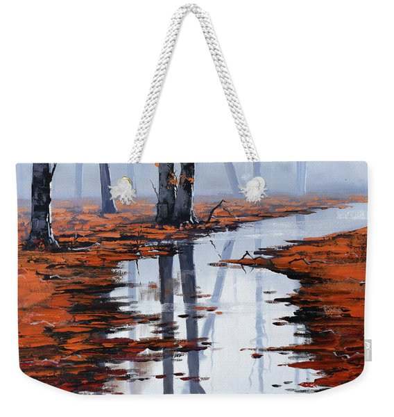 Misty Autumn Colors Weekender Tote Bag