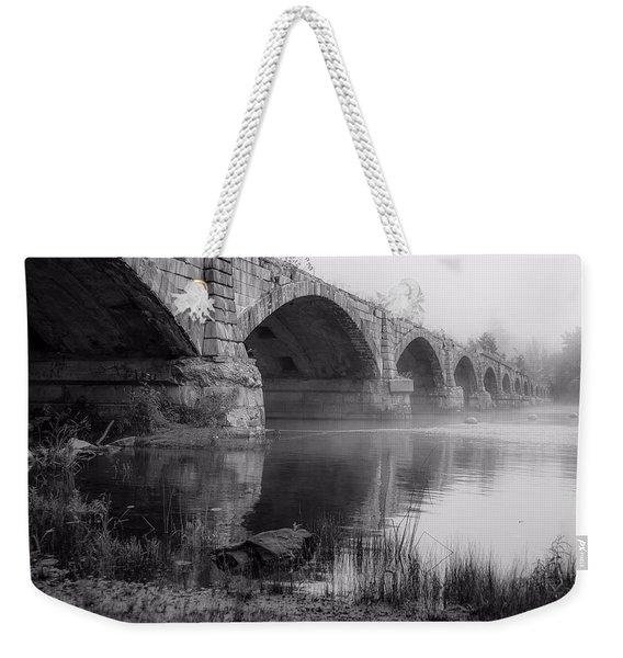 Misty Bridge Weekender Tote Bag
