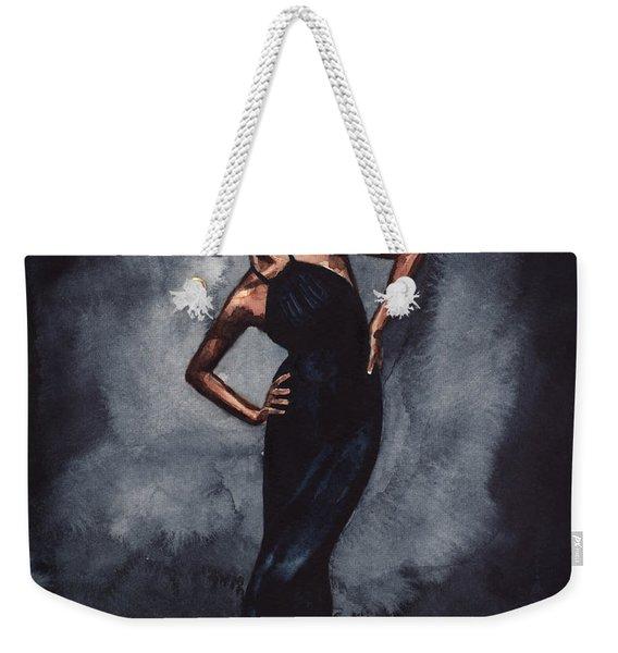 Misty Copeland Ballerina Dancer In A Black Dress Weekender Tote Bag