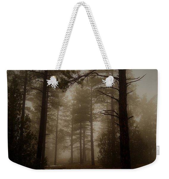 Misty Forest Morning Weekender Tote Bag
