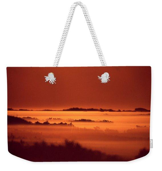 Misty Meadow At Sunrise Weekender Tote Bag