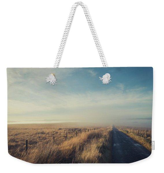 Misty Moorland Road Weekender Tote Bag