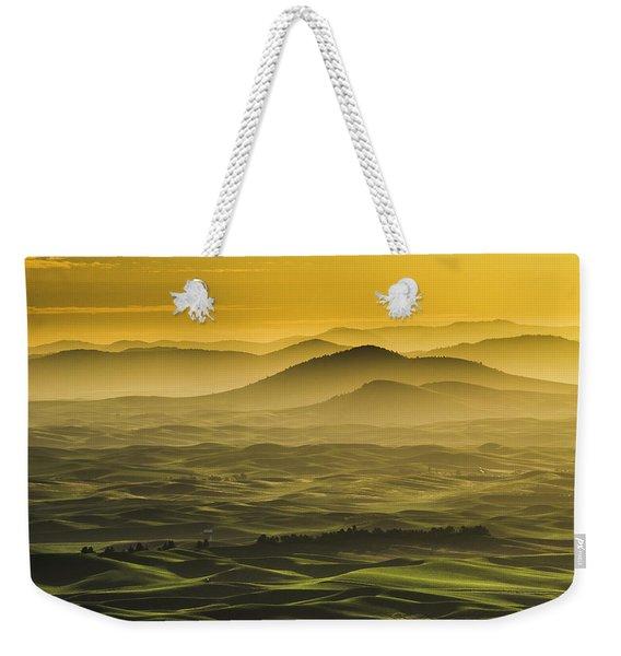 Misty Morning At Palouse. Weekender Tote Bag