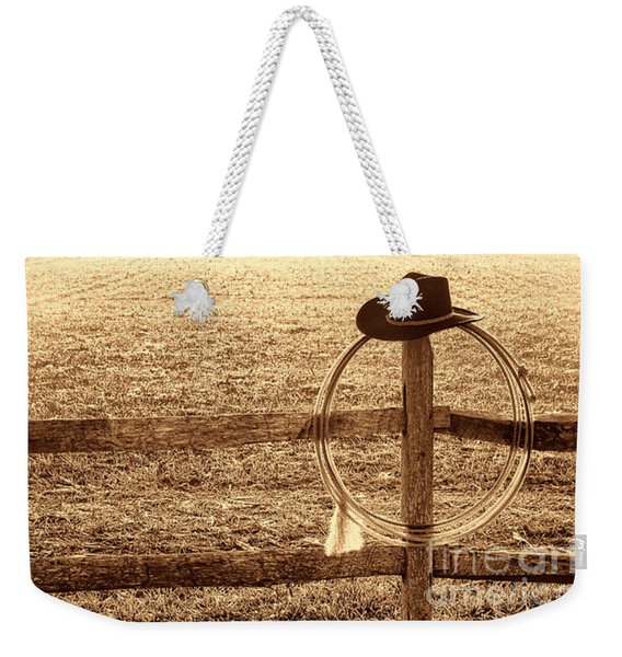 Misty Morning At The Ranch Weekender Tote Bag