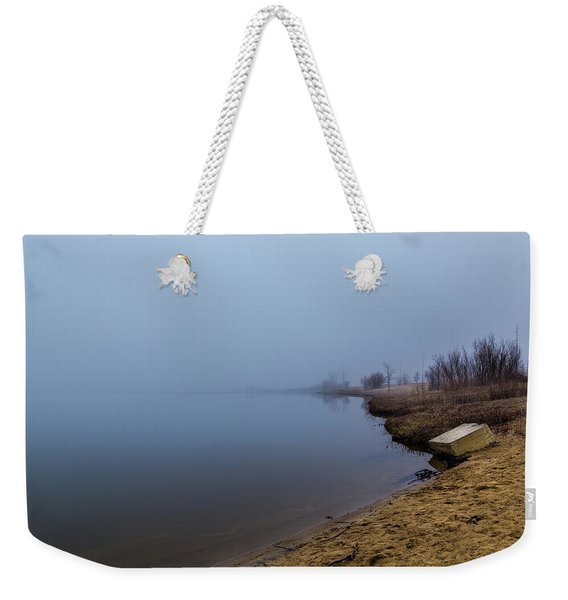 Misty Morning By The Lake Weekender Tote Bag