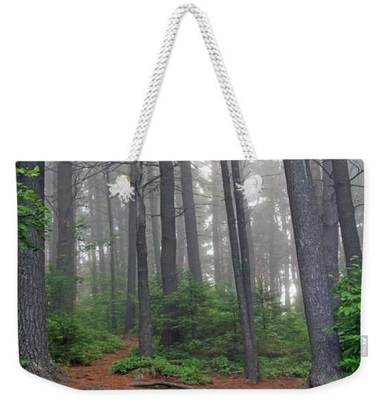 Misty Morning In An Algonquin Forest Weekender Tote Bag