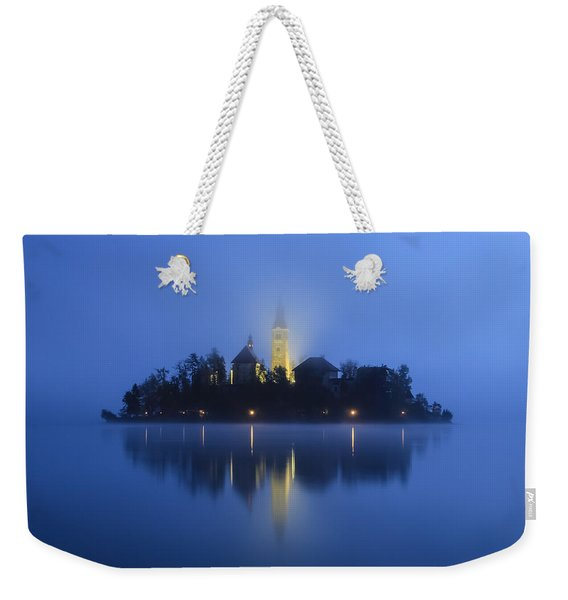 Misty Morning Lake Bled Slovenia Weekender Tote Bag