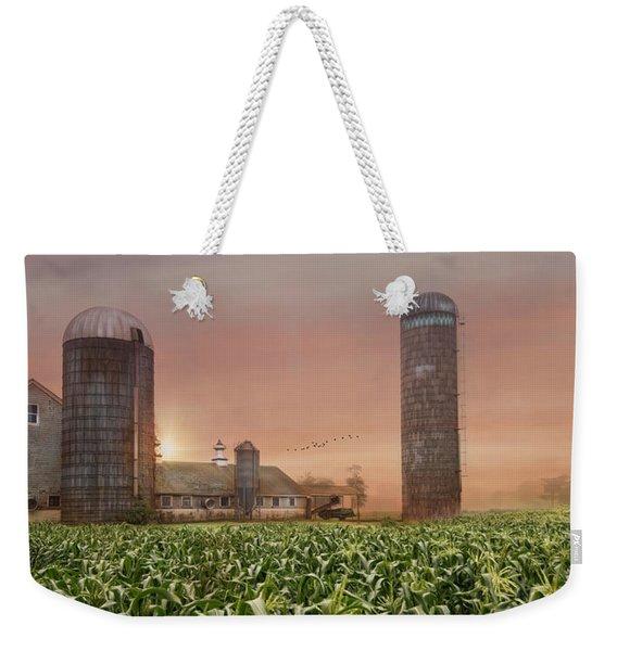 Misty Morning Maize Weekender Tote Bag