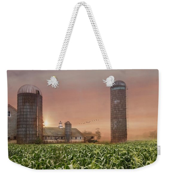 Misty Morning Maize Weekender Tote Bag